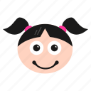 astonished, emoji, emoticon, face, girl, happy, hushed, surprised, women, wondering icon