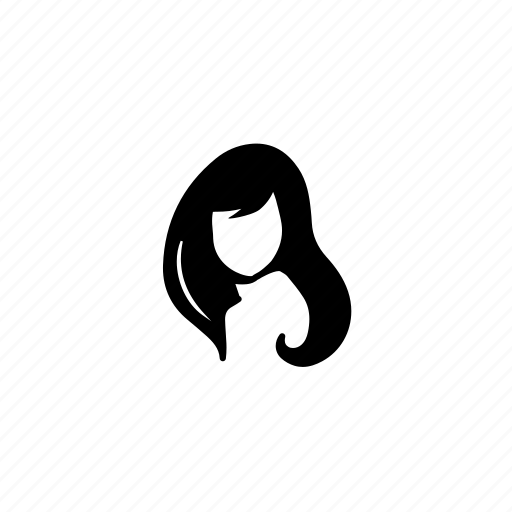 face, girl, long hair icon