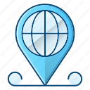 global, global business, gps, location, pin icon