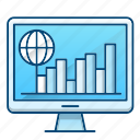 chart, global, global business, management, online icon