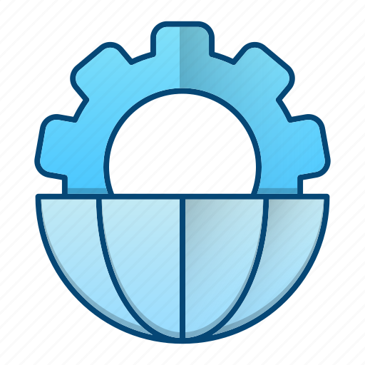 business, global, global business, processing icon