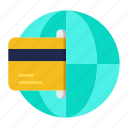 transaction, shopping, global business, global, international, payment icon