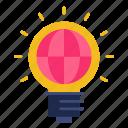bulb, electricity, global business, ideas, international, light, worldwide