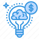 idea, business, creative, money, lightbulb