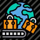 baggage, international, travel, luggage, global