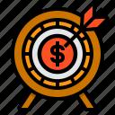 target, funds, achievement, goal, money, marketing