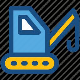 bendi truck, counterbalanced truck, crane truck, fork truck, forklift icon