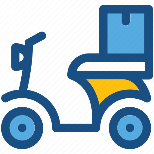 cargo bike, courier service, delivery bike, scooter, transport icon