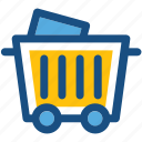 cart, coal cart, construction cart, mine trolley, minecart icon