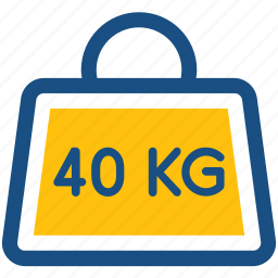 forty kg, kg, kilogram, weight, weight tool icon