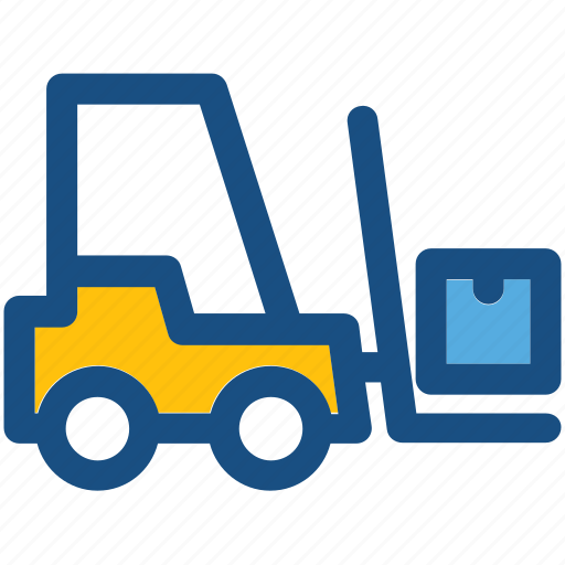 bendi truck, container crane, counterbalanced truck, fork truck, forklift icon