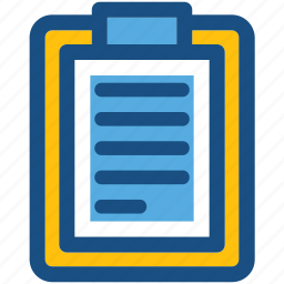 clipboard, document, form, sheet, text sheet icon
