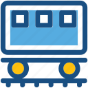 cargo train, freight train, railway transport, shipment, shipping icon