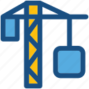 construction crane, construction machinery, container, container crane, tower crane icon