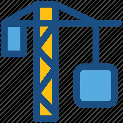 construction crane, construction machinery, container, container crane, tower crane icon