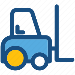 bendi truck, counterbalanced truck, fork truck, forklift, golf cart icon
