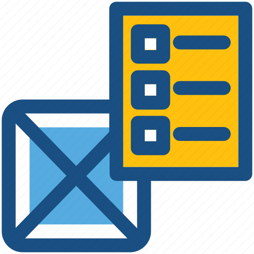 box, carton, checklist, package, shipment icon