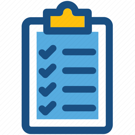checklist, clipboard, list, memo, sheet icon