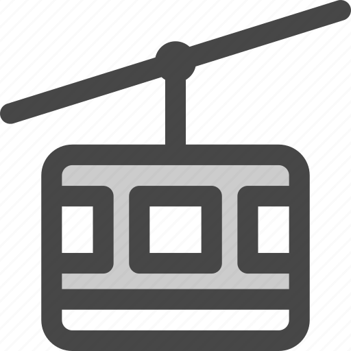 aerial, cable, lift, ropeway, tramway, transport, wire icon