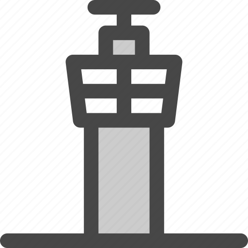 airplane, airport, building, control, security, tower, traffic icon