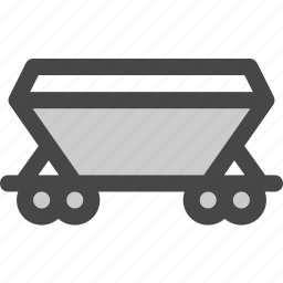 cargo, carriage, railroad, railway, train, transport, transportation icon