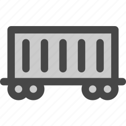 cargo, carriage, container, railroad, railway, train, transport icon