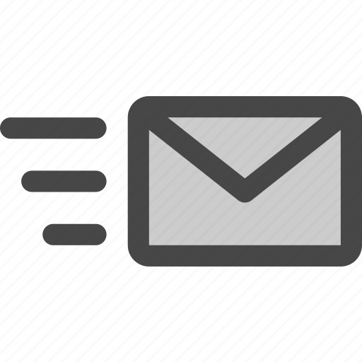 delivery, envelope, letter, mail, message, rush, shipping icon