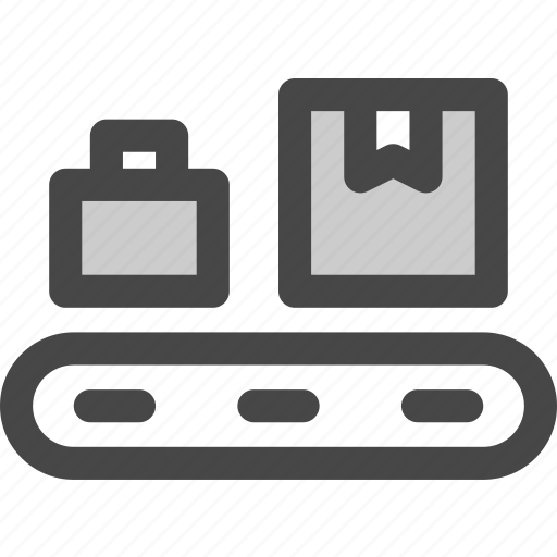 airport, conveyor, luggage, package, shipping, suitcase, transport icon