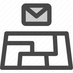 delivery, letter, loaction, map, message, shipping icon