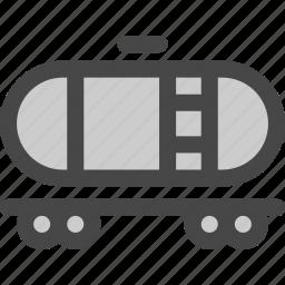 carriage, oil, petrol, railroad, railway, train, transport icon