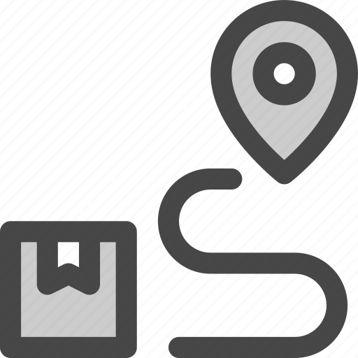 delivery, location, package, posting, route, shipping icon