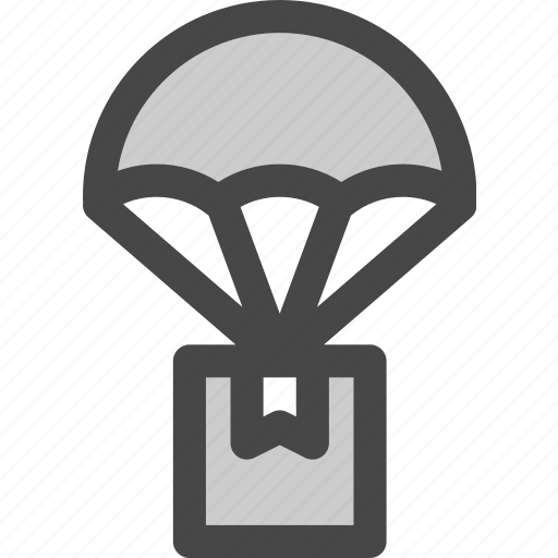 air, delivery, drop, mail, package, parachute, shipping icon