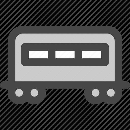 carriage, passenger, railroad, railway, train, transport icon