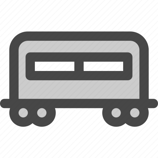 carriage, passenger, railroad, railway, train, transport icon