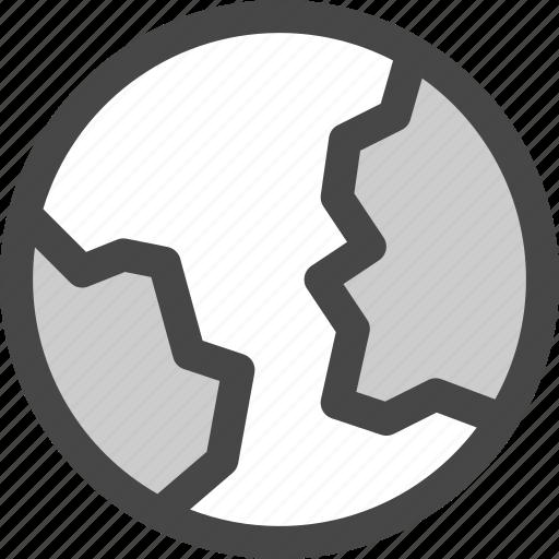 earth, globe, landmass, map, planet, world icon