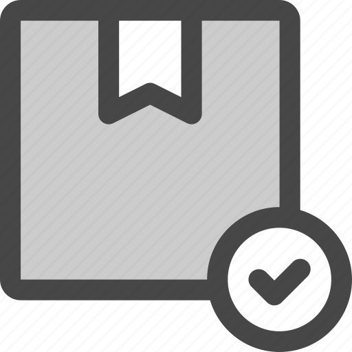 check, confirm, delivery, done, package, shipment, shipping icon