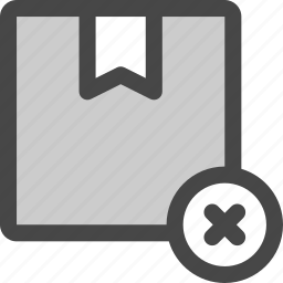 delivery, denied, mail, package, rejected, shipment, shipping icon