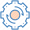 cog, cogwheel, refresh, refresh setting, update setting icon