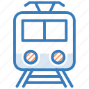 metro train, subway, train, tram, transport icon