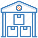 building, godown, storage unit, storehouse, warehouse icon