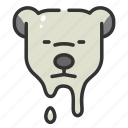 arctic, bear, environment, global, melting, polar, warming icon