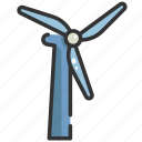 electricity, energy, environment, power, turbine, wind, windmill icon
