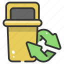 bin, ecology, environment, garbage, recycle, trash, waste icon