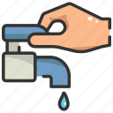 care, drop, ecology, faucet, save, tap, water icon