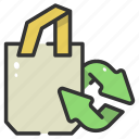 bag, eco, eco bag, ecologic, recycle, recycled, shopping icon
