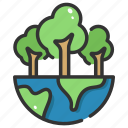 ecology, green, green earth, nature, plant, wind, world icon