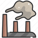 air, building, city, environment, factory, pollution, smoke icon