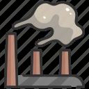 air, building, city, environment, factory, pollution, smoke