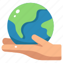 earth, eco, ecology, environment, hands, planet, save icon