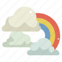 atmospheric, nature, rainbow, sky, spectrum, sun, weather icon